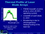 thermal profile of laser diode arrays