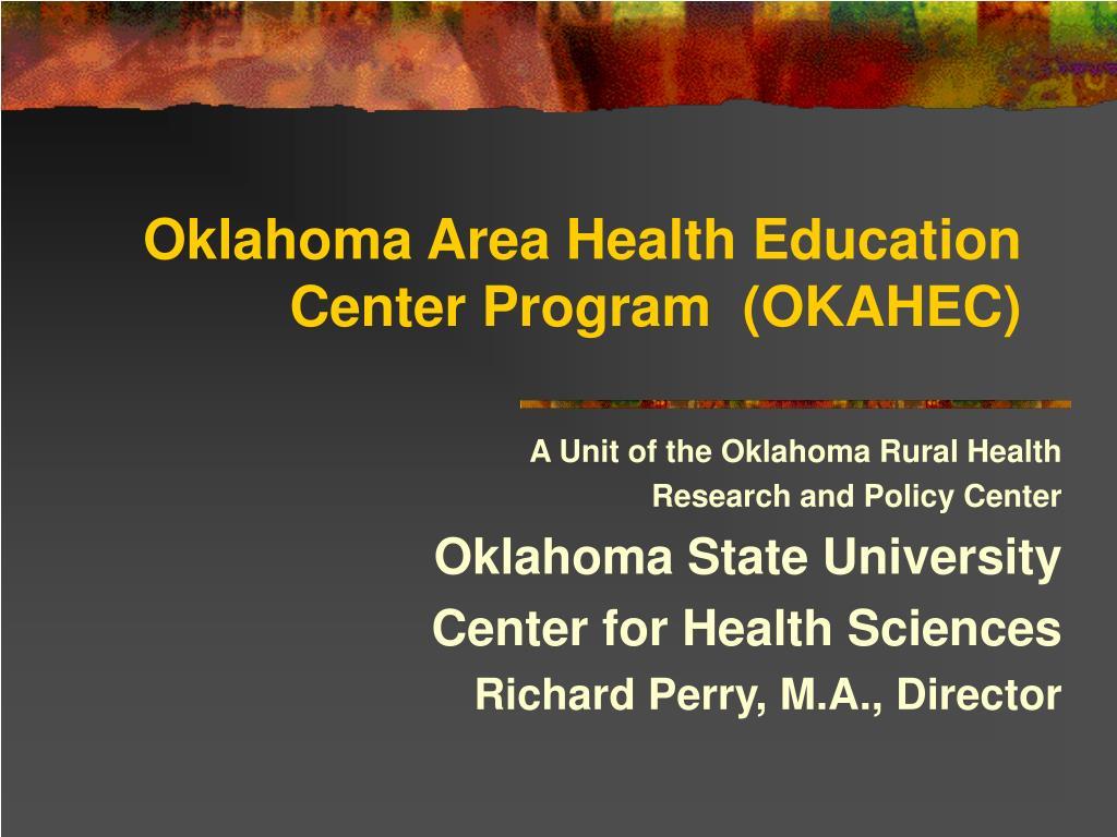 oklahoma area health education center program okahec l.