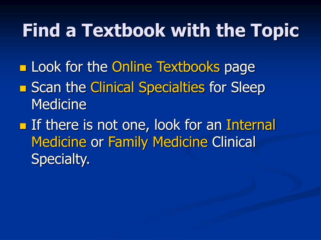 Find a Textbook with the Topic
