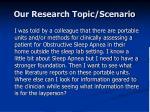 our research topic scenario