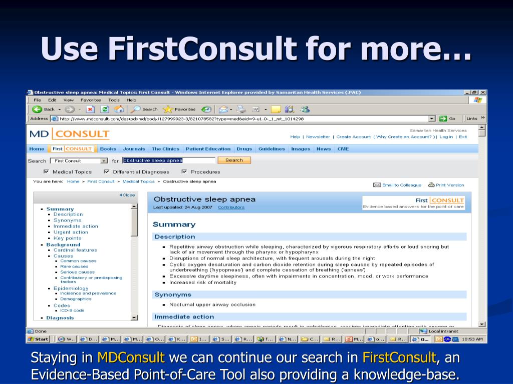 Use FirstConsult for more…