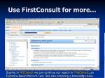 use firstconsult for more