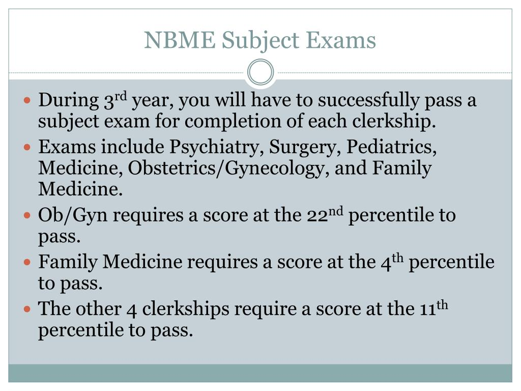 PPT - NBME Subject Examination Strategies PowerPoint