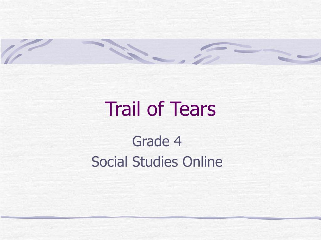 trail of tears l.
