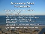 interviewing island professionals15