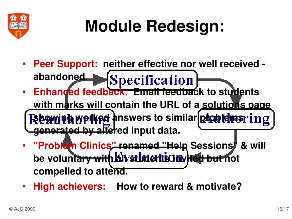 Module Redesign: