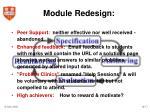 module redesign