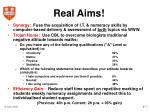real aims
