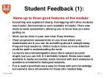 student feedback 1