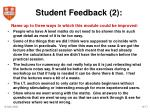 student feedback 2