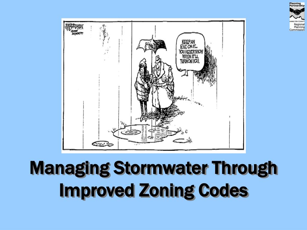 managing stormwater through improved zoning codes l.