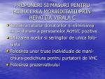 propuneri si masuri pentru reducerea morbiditatii prin hepatita virala c