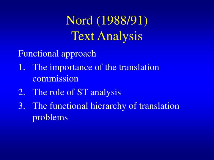 functional approach to translation