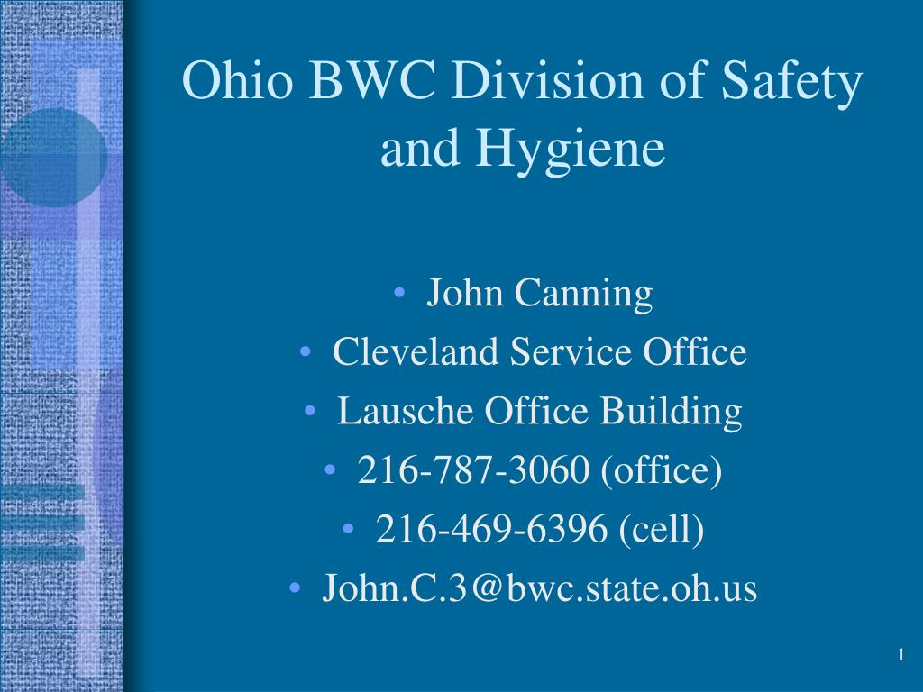 ohio bwc division of safety and hygiene l.