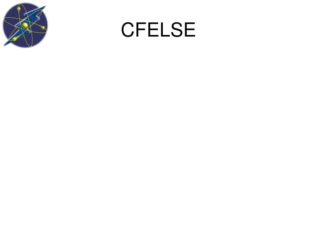 CFELSE