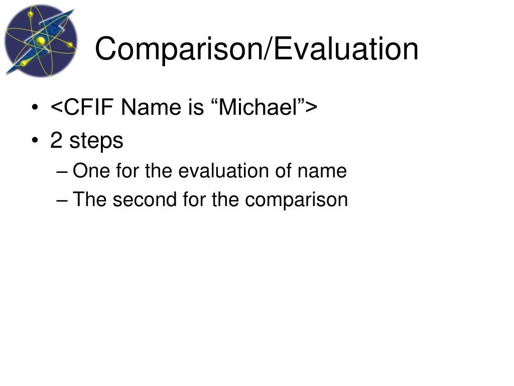 Comparison/Evaluation