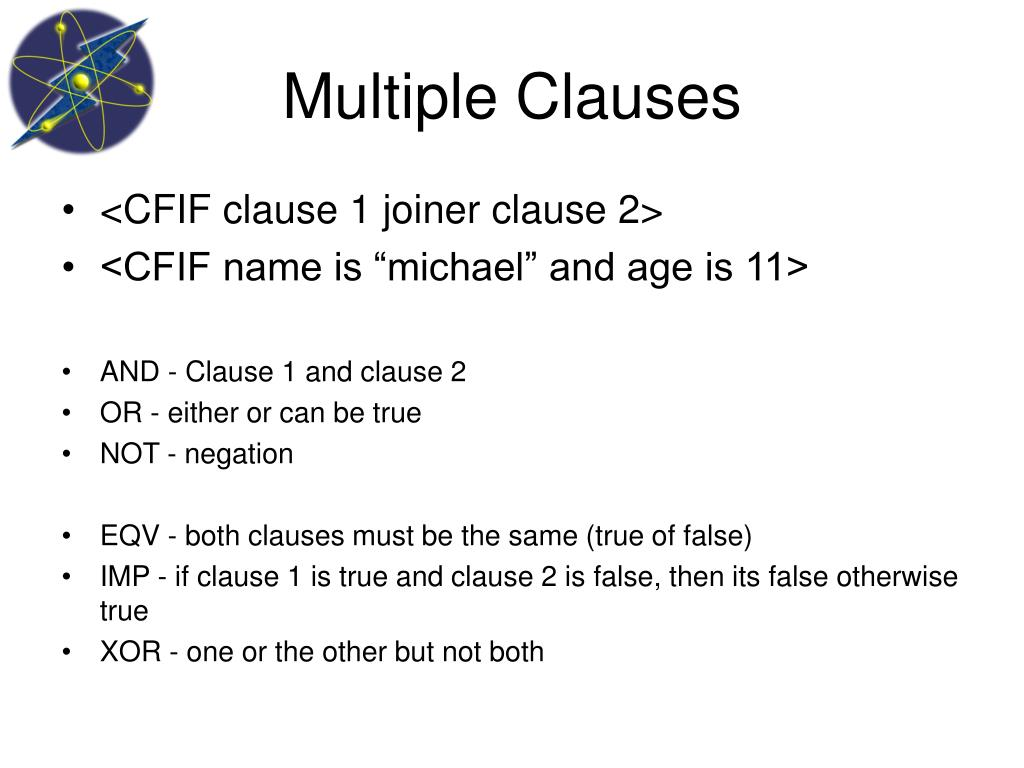 Multiple Clauses