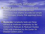 complexity definitions