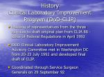 history clinical laboratory improvement program dod clip