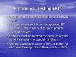 proficiency testing pt48