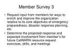 member survey 3