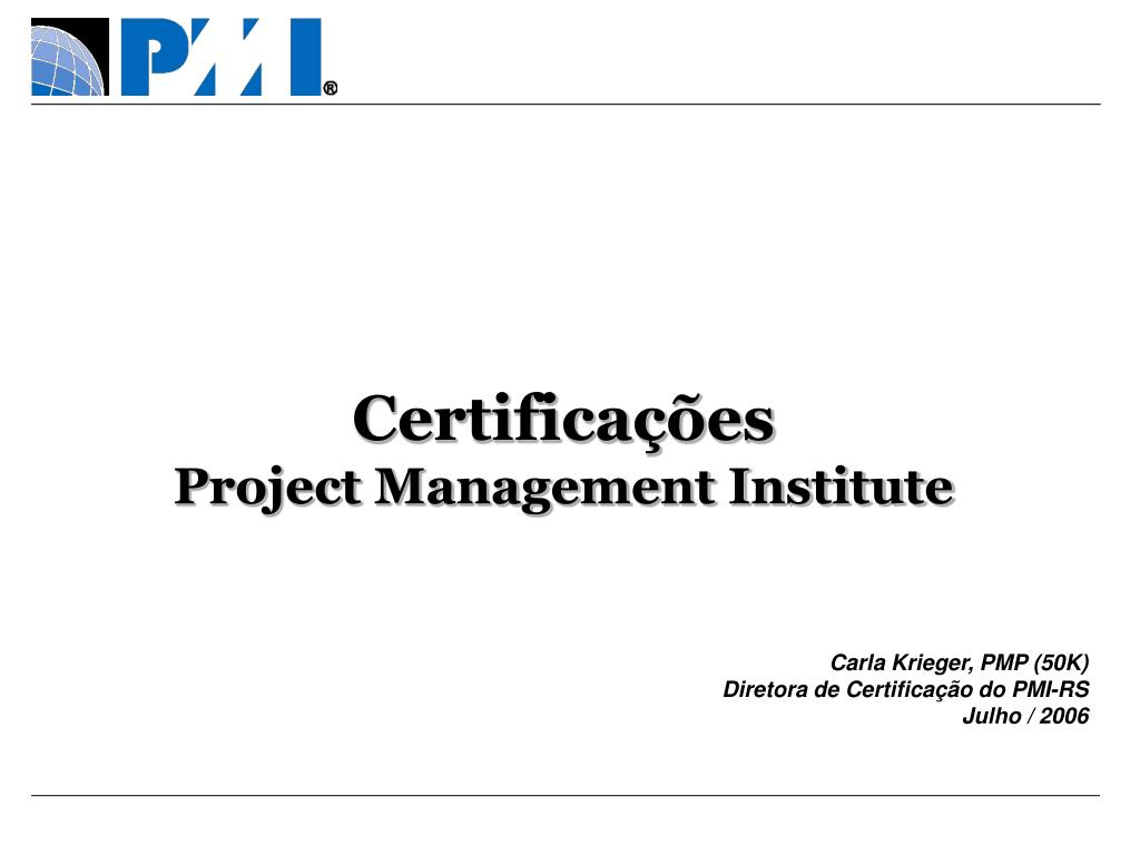 certifica es project management institute l.