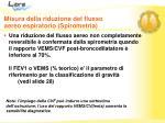 misura della riduzione del flusso aereo espiratorio spirometria