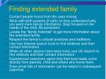 finding extended family