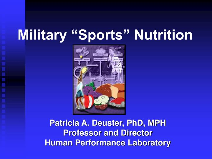military sports nutrition n.