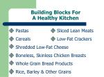 building blocks for a healthy kitchen
