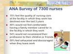 ana survey of 7300 nurses