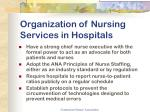 organization of nursing services in hospitals