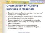 organization of nursing services in hospitals17