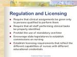 regulation and licensing11