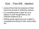 god free will idealism