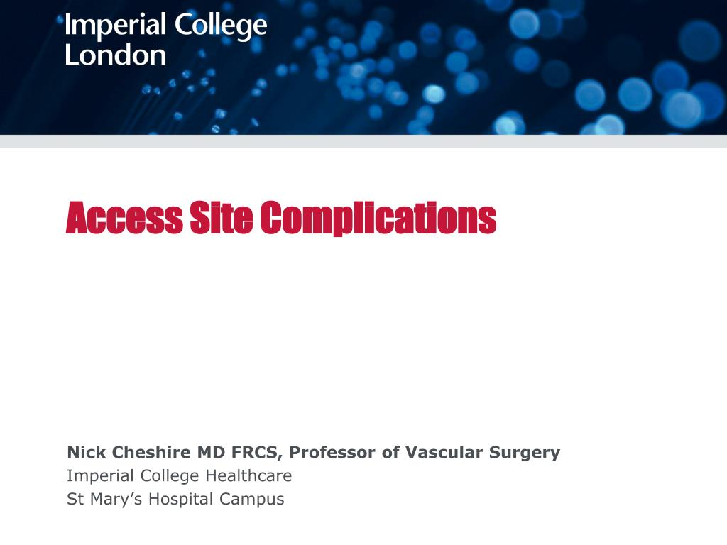 access site complications l.