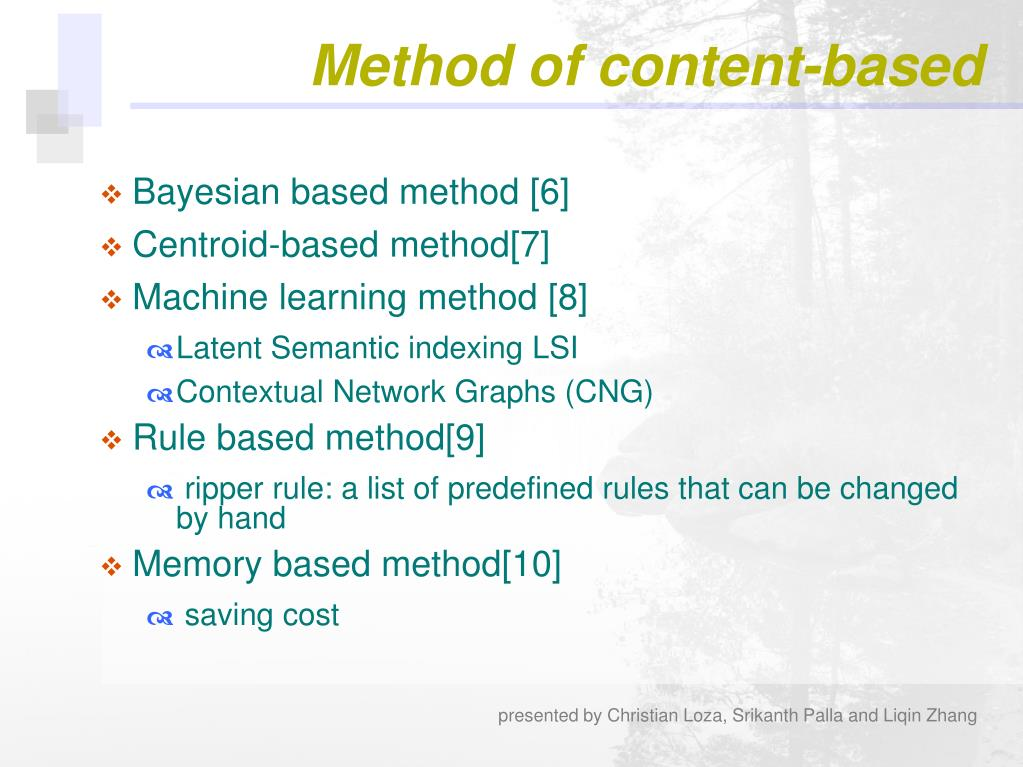 Method of content-based