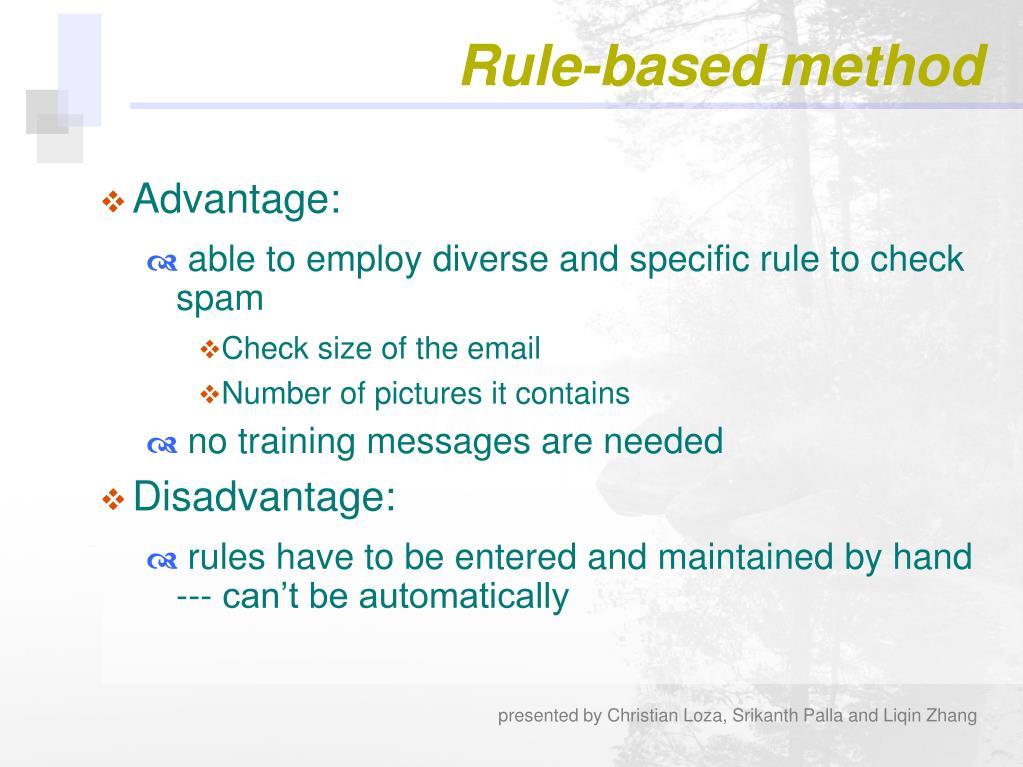 Rule-based method