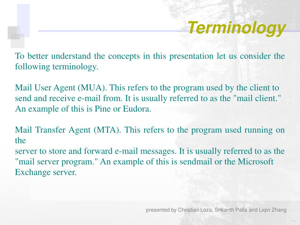 To better understand the concepts in this presentation let us consider the following terminology.