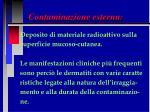 contaminazione esterna