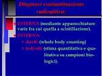diagnosi contaminazione radioattiva