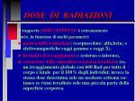 dose di radiazioni