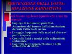 prevenzione della conta minazione radioattiva