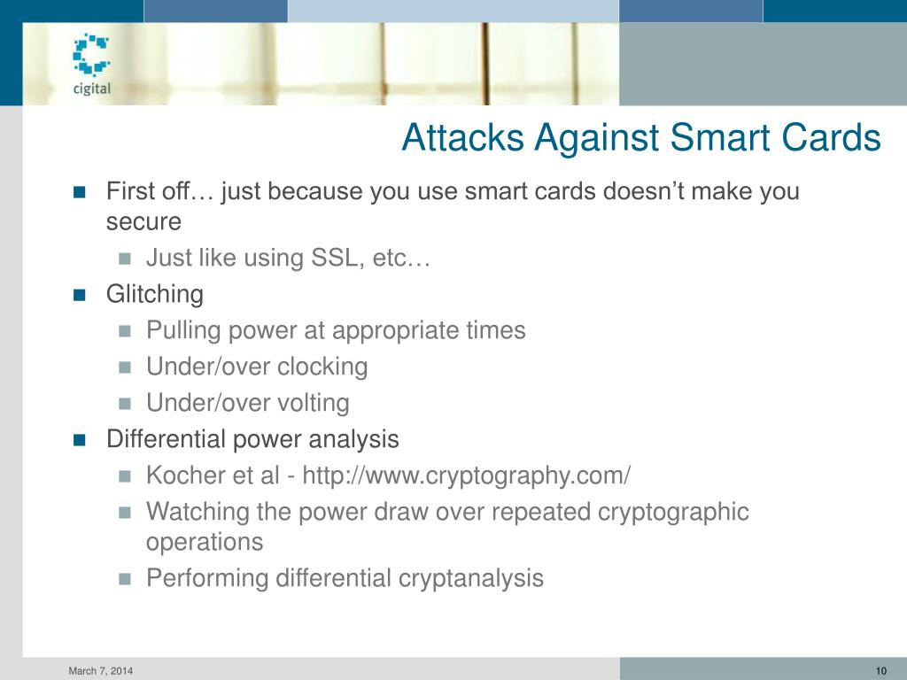 Attacks Against Smart Cards
