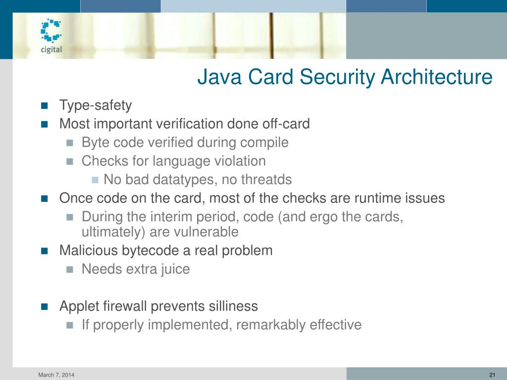 Java Card Security Architecture