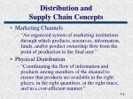 distribution and supply chain concepts