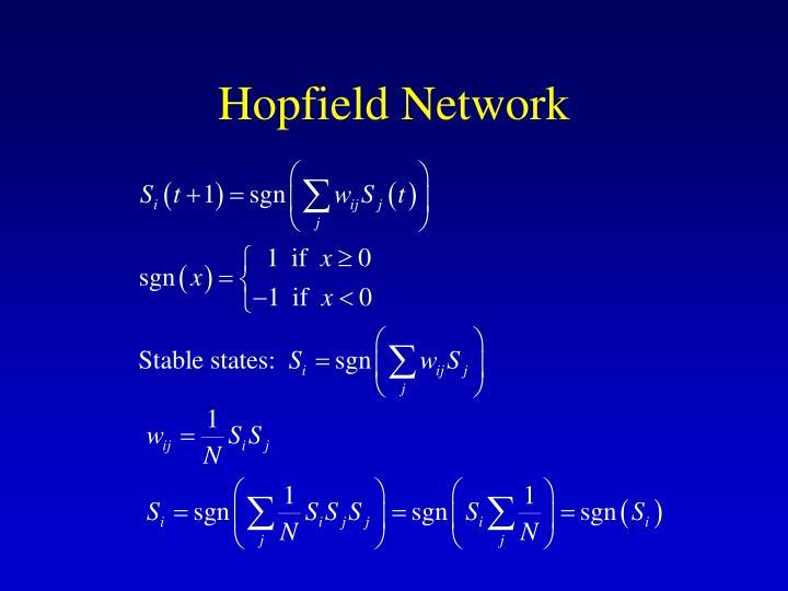 Hopfield network3