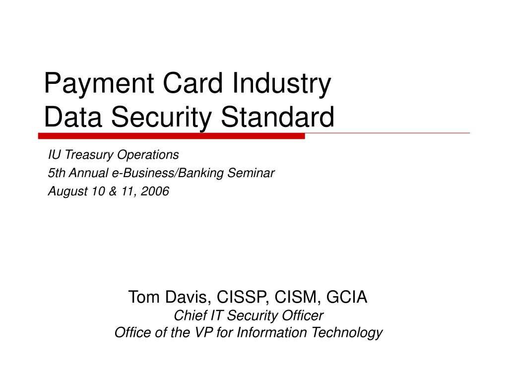payment card industry data security standard l.
