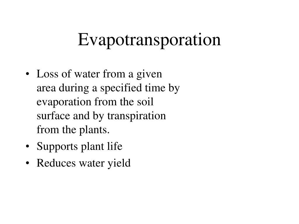 Evapotransporation