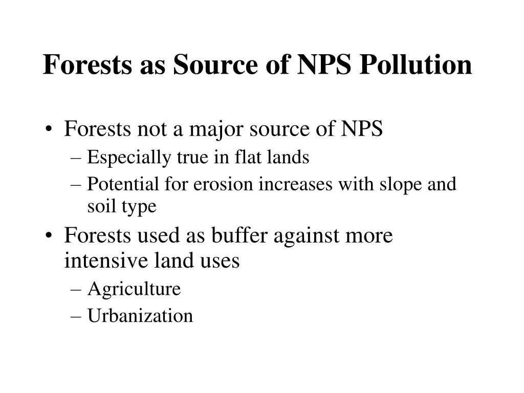 Forests as Source of NPS Pollution